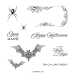 HALLOWS NIGHT MAGIC CLING STAMP SET #153356